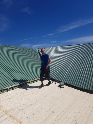 Simon Orvarssonstrax efter han fått i hop taket på sneskyggan.
